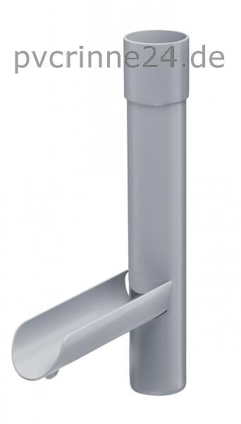 Dachrinne INEFA Ablaufstutzen DN 75 Kunststoff Regenrinne anthrazitgrau